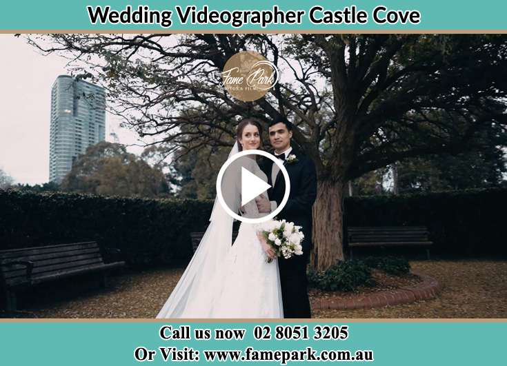 Bride and Groom at the garden Castle Cove NSW 2069