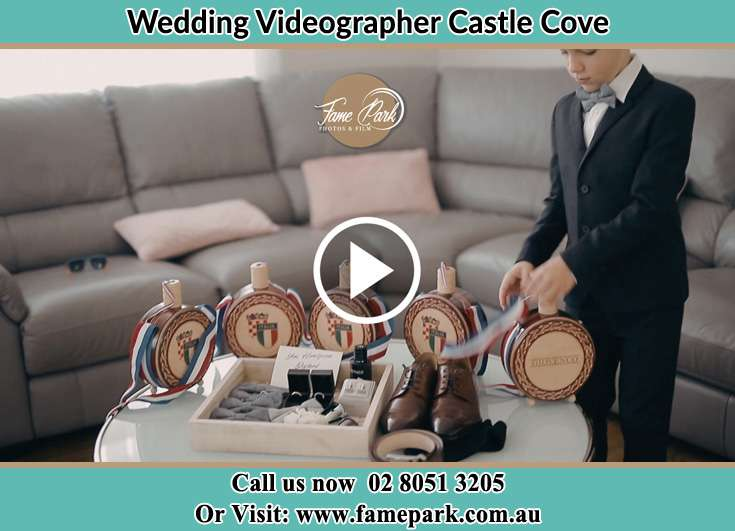 Groom wedding accessories Castle Cove NSW 2069