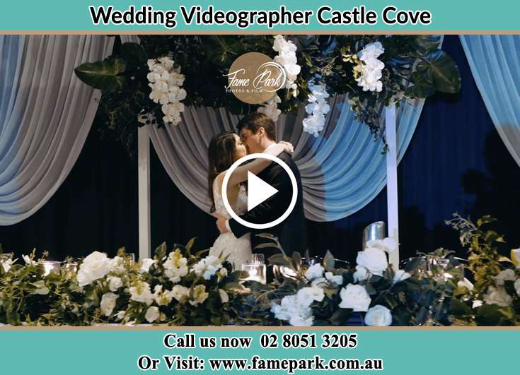 Bride and Groom kissed at the reception Castle Cove NSW 2069