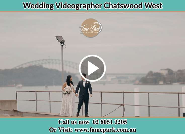 Bride and Groom looking at each other at the bay Chatswood West NSW 2067
