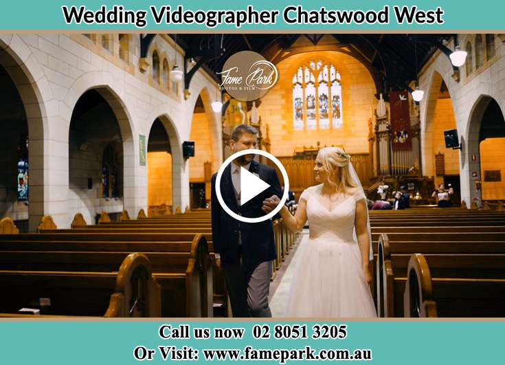 Bride and Groom walking in the aisle Chatswood West NSW 2067