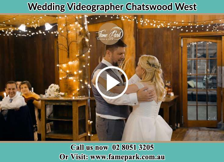 Bride and Groom looking at each other at the dance floor Chatswood West NSW 2067