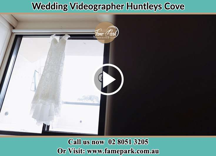 The wedding gown at the window Huntleys Cove NSW 2111