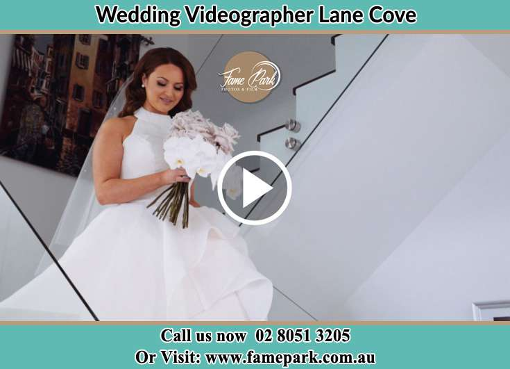 The Bride walking downstairs Lane Cove NSW 2066