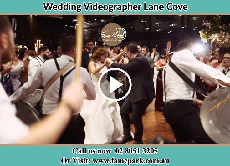 The newlyweds dancing on the dance floor with the band Lane Cove NSW 2066