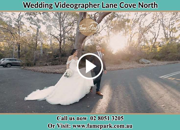 The Groom and the Bride walking in the car park Lane Cove North NSW 2066