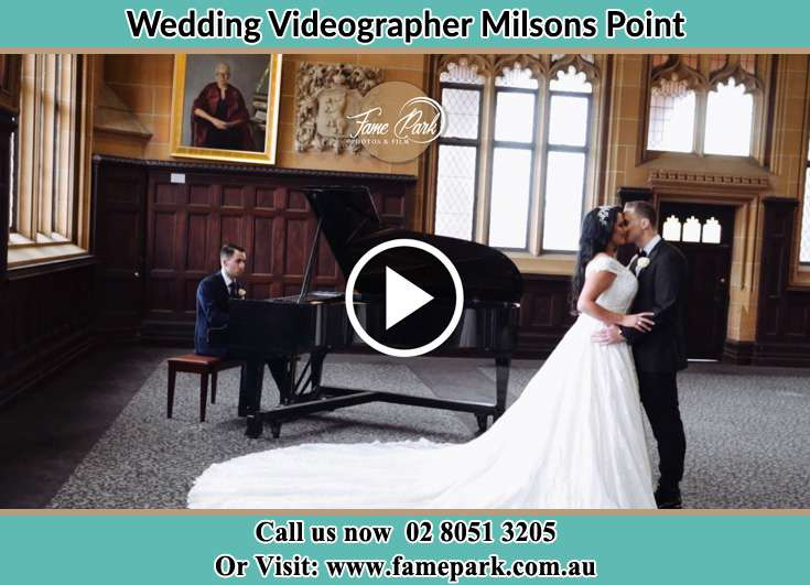The newlyweds dancing as the pianist play their song Milsons Point NSW 2061
