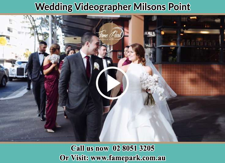 The Groom and the Bride walking in the streets Milsons Point NSW 2061