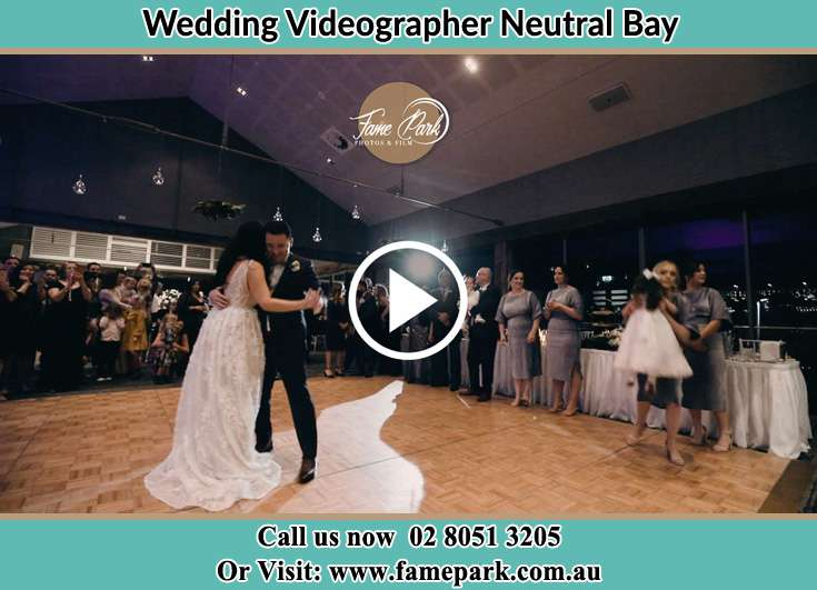The newlyweds dancing on the dance floor Neutral Bay NSW 2089