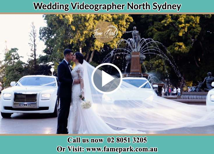 Bride and Groom kissed in the park North Sydney NSW 2060