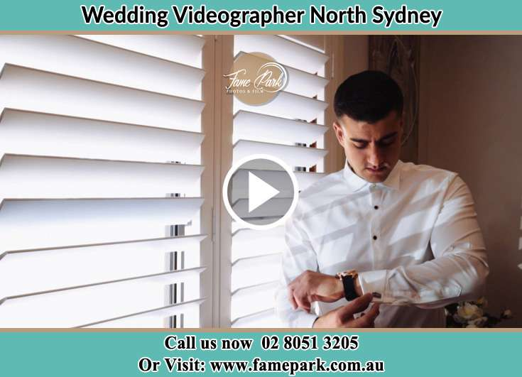 Groom getting ready for the event North Sydney NSW 2060