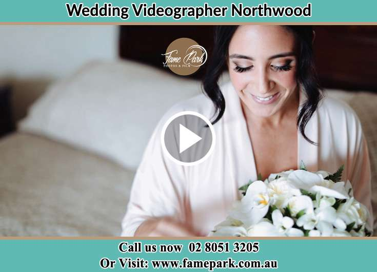 The Bride holding a bouquet of flowers Northwood NSW 2066