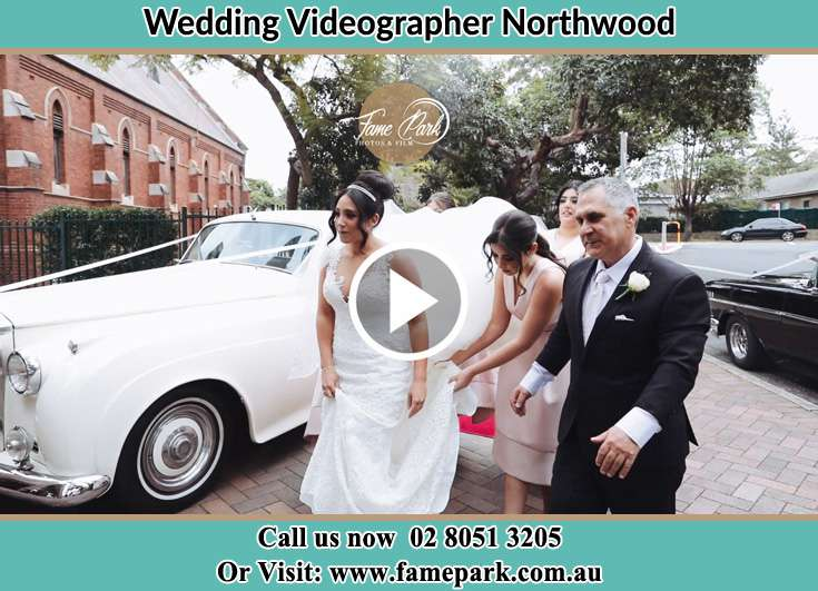 The Bride arriving at the church Northwood NSW 2066
