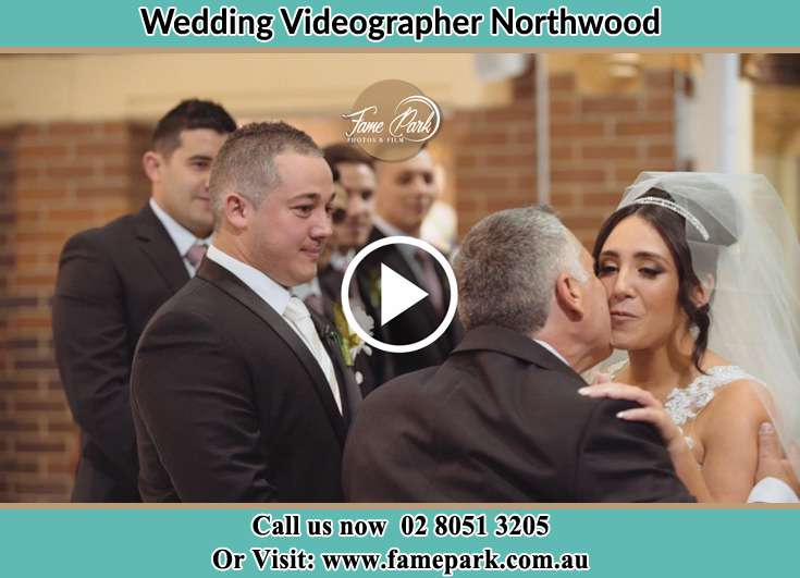 The bride with her father Northwood NSW 2066